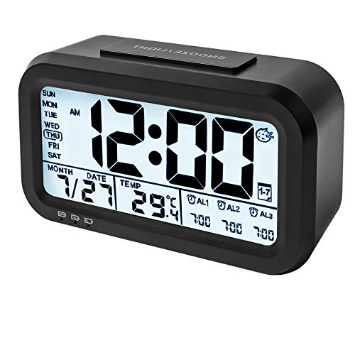 Large Display Digital Alarm Night Light Clock