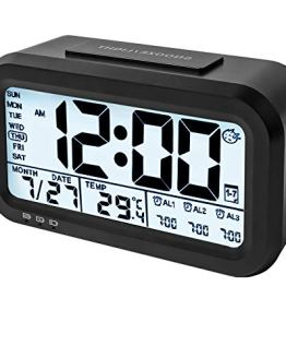 Large Display Digital Alarm Night Light Clock