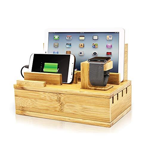 Apple Watch Charging Station Bamboo Finish