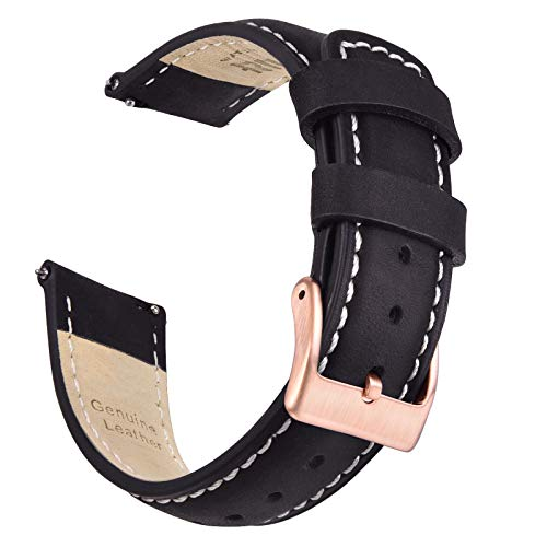 Ritche 20mm Leather Watch Band Quick Release for Men Women