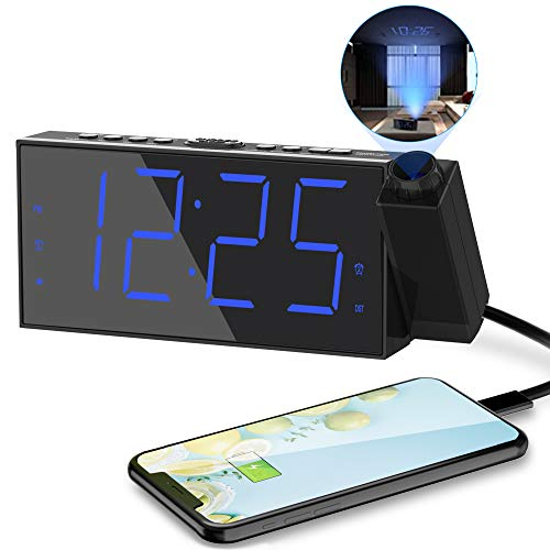 180°Projector Clock LED Display for Kid