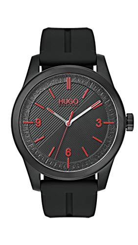 Black Hugo Boss Silicone Strap Watch
