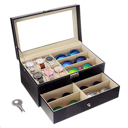 Leather Watch Box Case Organizer