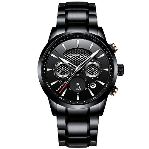 CRRJU Watches Men's Date Business Casual Chronograph