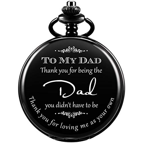 Thank You for Being The Dad Pocket Watch Men Personalized