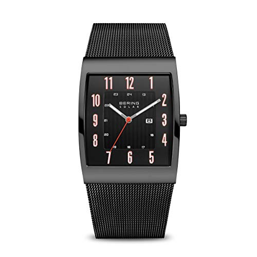 BERING Men's Solar Powered Watch with Stainless Steel Strap