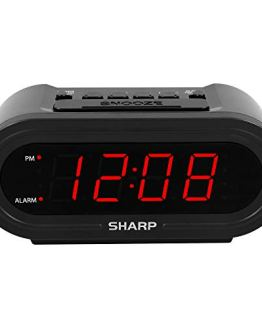 Sharp Digital Alarm with AccuSet - Automatic Smart Clock