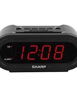 Sharp Digital Alarm with AccuSet - Automatic Smart Clock