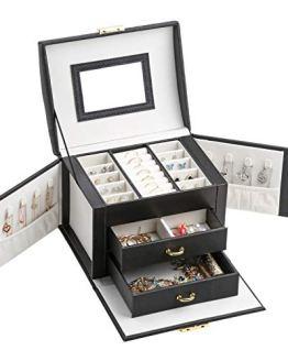 Jewelry Box Leather Lockable Butterfly Watch Storage Case