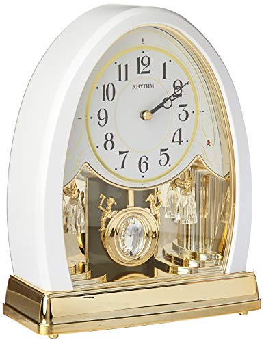 Joyful Crystal Pearl Musical Mantel Clock