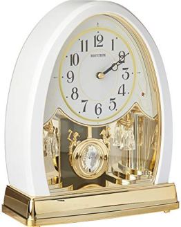 Joyful Crystal Pearl Musical Mantel Clock