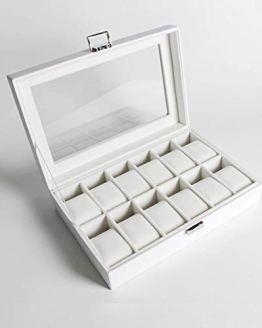 Watch Box 12 Slot Case Real Glass Organizer