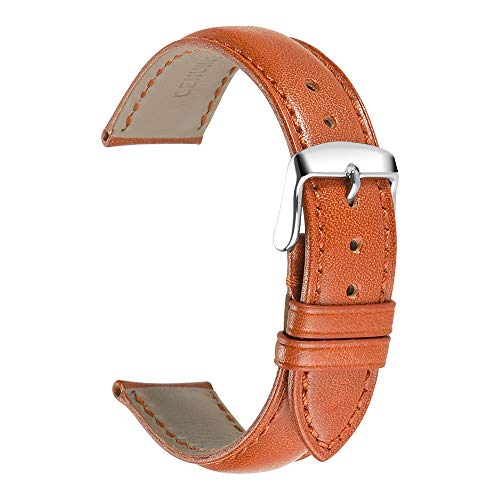 iStrap Genuine Calfskin Leather Watch Band Padded Replacement