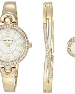 Anne Klein Swarovski Crystal Accented Watch