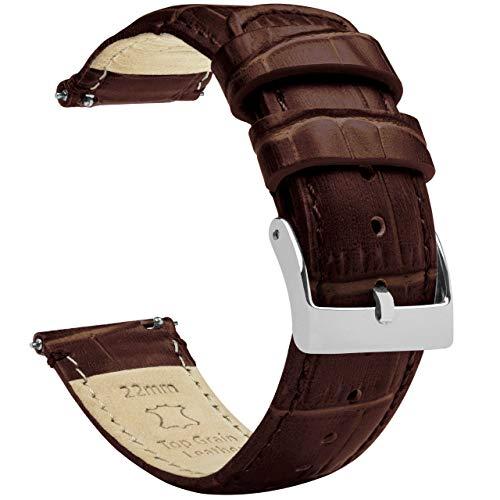 BARTON Alligator Grain - Quick Release Leather Watch Band