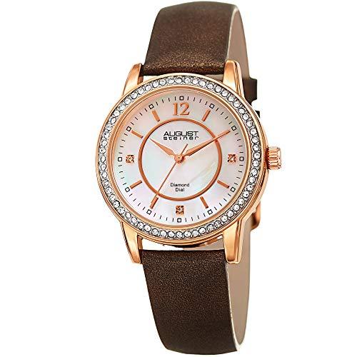 August Steiner Swarovski Crystal Studded Women's Watch