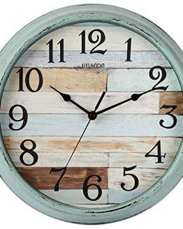 HYLANDA Rustic Wall Clock, Wall Clocks Battery Operated