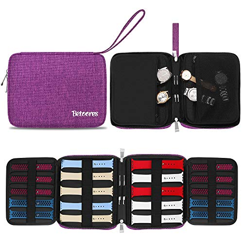 Betoores Watch Band Case Travel Organizer Bag
