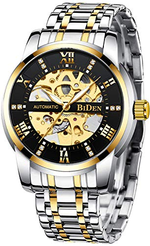Mens Watches Gold Mechanical Automatic Self-Winding