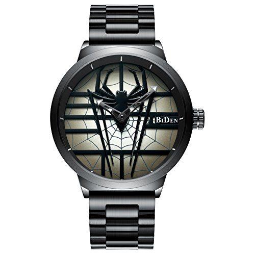 Men's Spider Skeleton Watch Stylish Steel Band