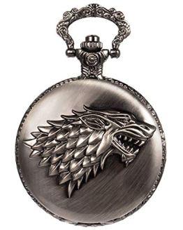 Wolf Pattern Pocket Watch Steampunk