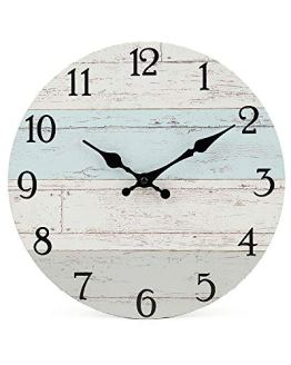Round Wall Clock Vintage Rustic