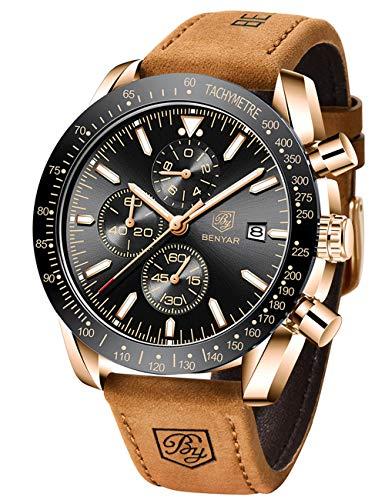 BENYAR Mens Watches Quartz Chronograph Business Luxury