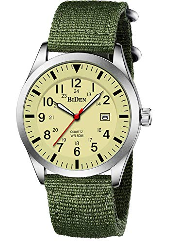 Military Wrist Watch Army Field Silver Yellow