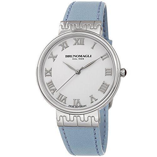 White Dial Italian Leather Strap Watch Bruno Magli