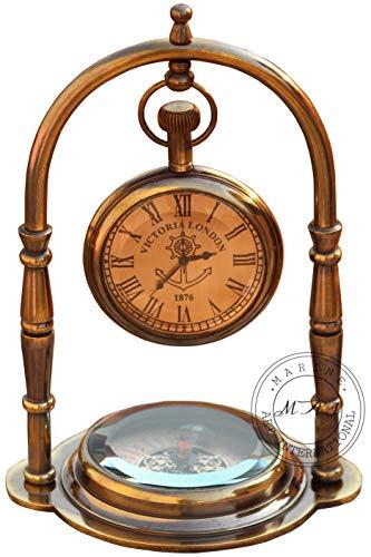 Nautical Clock Ship Table Clock Brass Desk Clock
