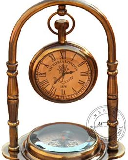 Nautical Clock Ship Table Clock Brass Desk Clock
