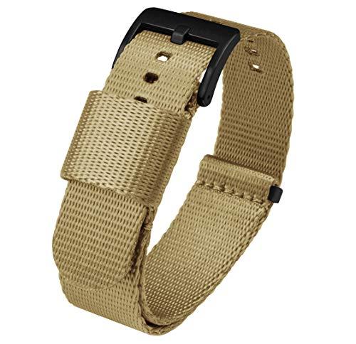 24mm Khaki Tan - BARTON Jetson NATO Style Watch Strap
