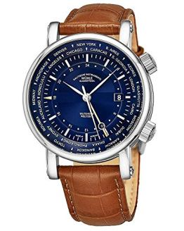 Muhle Glashutte Automatic GMT Watch - Blue Face with Date