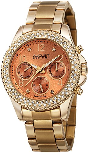 Filled Bezel August Steiner Women's Multifunction Watch