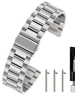 Silver 18mm Quick Release Watch Strap