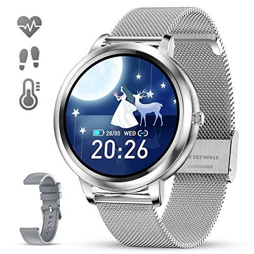 Bluetooth Fitness Tracker with Heart Rate Sleep Blood Pressure