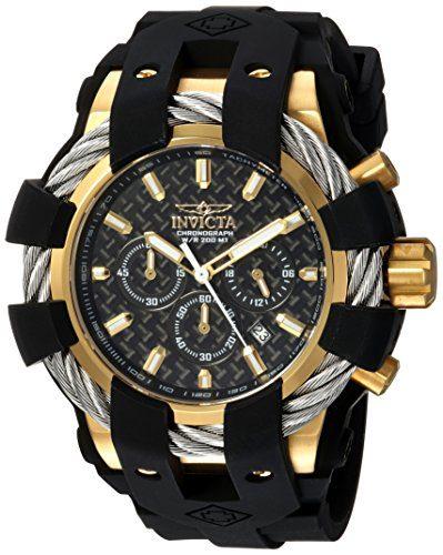 Invicta Men's Bolt Steel and Silicone Chronograph Quartz Watch