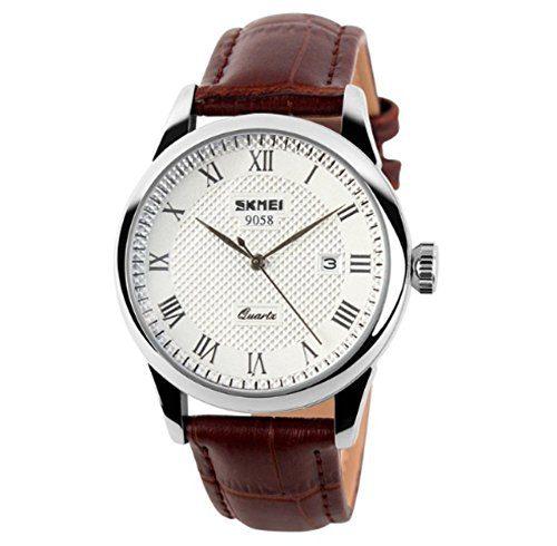 Mens Quartz Watch, Roman Numeral Business Casual