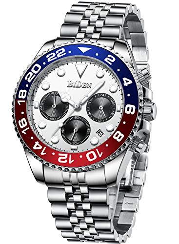 Chronograph Stainless Steel Waterproof Date Analog Watch