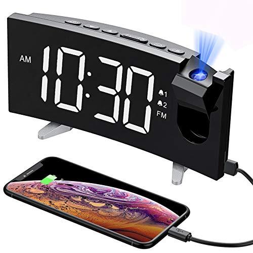 PICTEK Projection Digital Clock Radio for Bedrooms