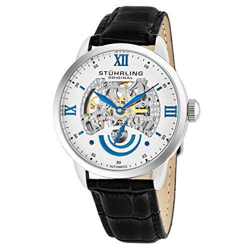 Stuhrling Original Men's 574.01 Executive II Automatic Skeleton Watch