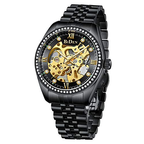 Mens Watches Mechanical Automatic Self-Winding Stainless Steel