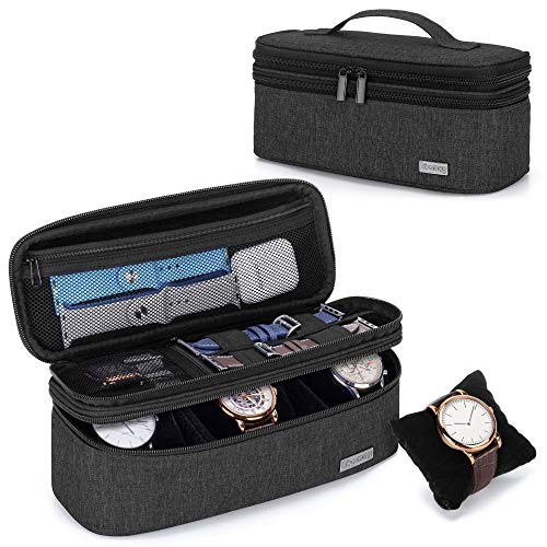 Double-Layer Watch Box Travel Storage Case