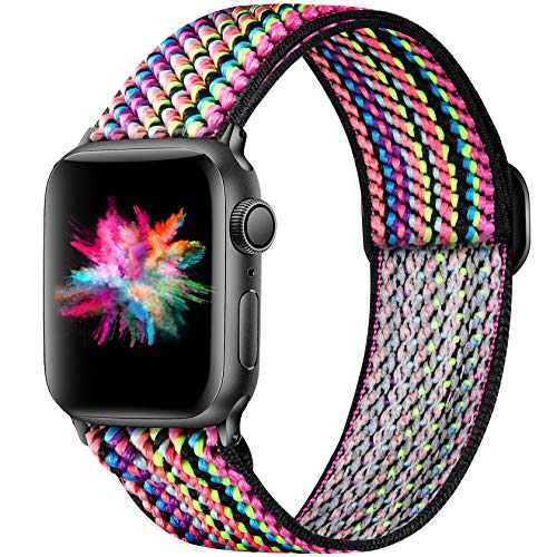 Adjustable Elastic Bands Compatible for Apple Watch Band 38mm