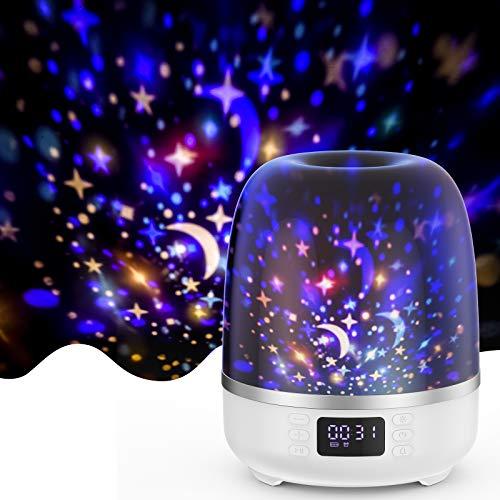 Star Projector Night Light Bluetooth Speaker 360 Degree Rotation