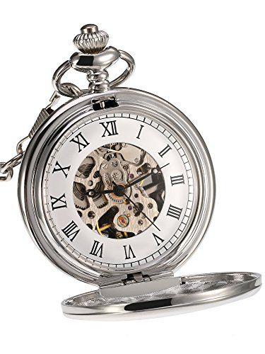 Mudder Mechanical Pocket Watch Silver