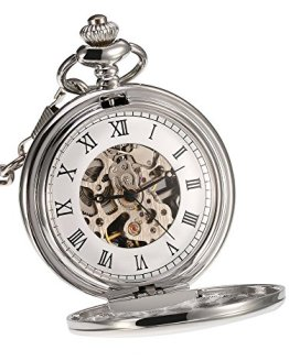 Mudder Mechanical Pocket Watch Silver