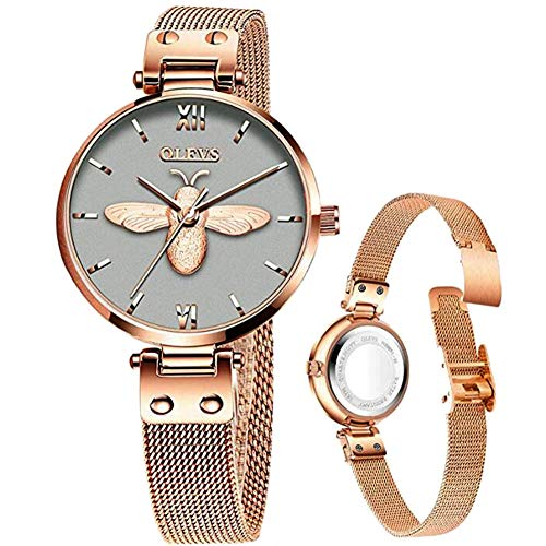 Rose Gold Womens Watches with Thin Dials,Ladies Watches
