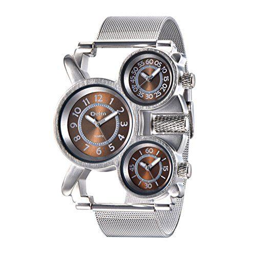 Military Watch Quartz Analog Wrist Mesh Strap