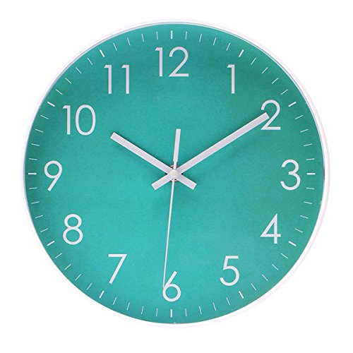 Modern Simple Wall Clock Indoor Non-Ticking Silent Sweep